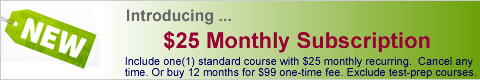 Rapid Learning Standard Monthly Subscription Course (MS) $25 Each Month with Auto Recurring